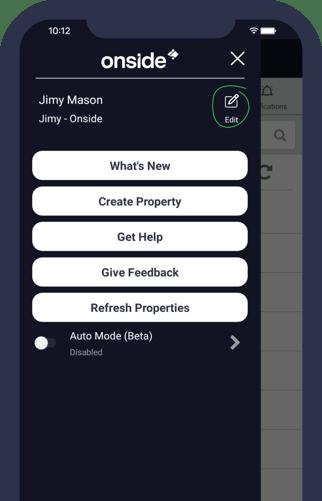 Edit profile - app