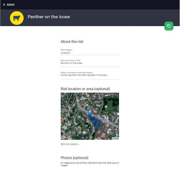 Risks - web portal